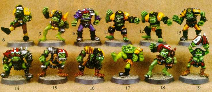 Blood Bowl Orcs!