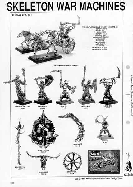MD8 Skeleton War Machines - 1991 Catalogue