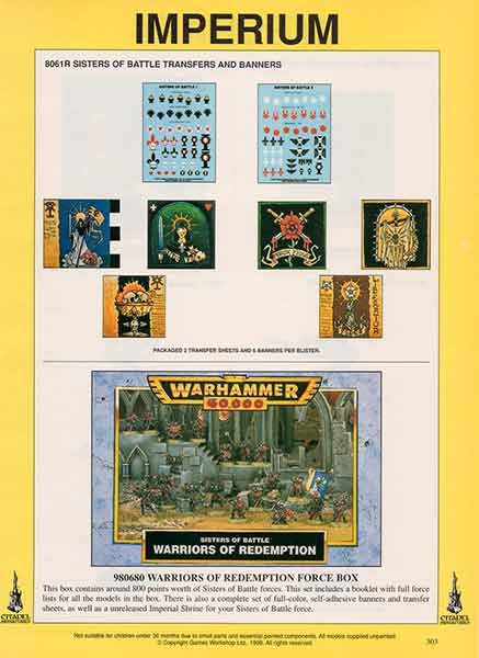 Sisters Of Battle Transfers Banners Warriors Of Redemption Force Box